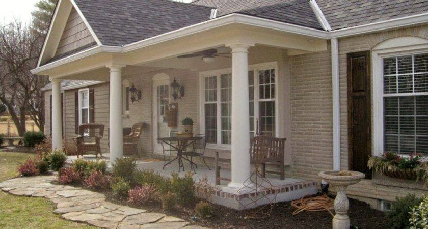 Adding Front Porch Hip Roof Bistrodre