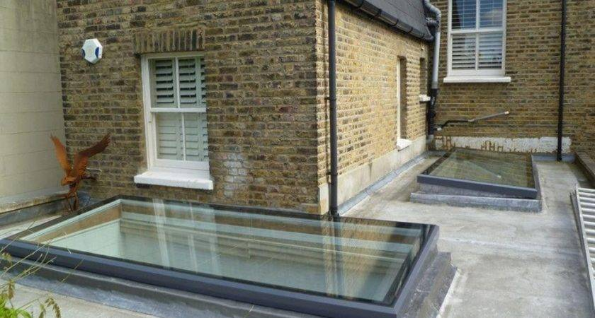 Affordable Flat Roof Front Porch Ideas Skylights