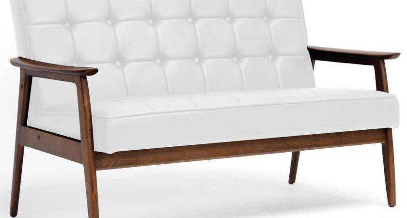 Affordable Mid Century Modern Furniture White Sofa