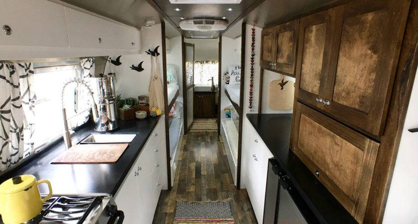 Airstream Renovation Tour Before After Tiny Shiny Home