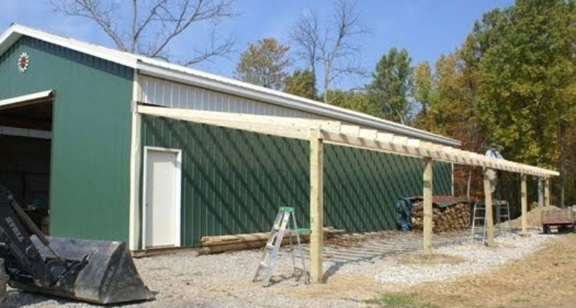 All Con Adding Lean Pole Barn