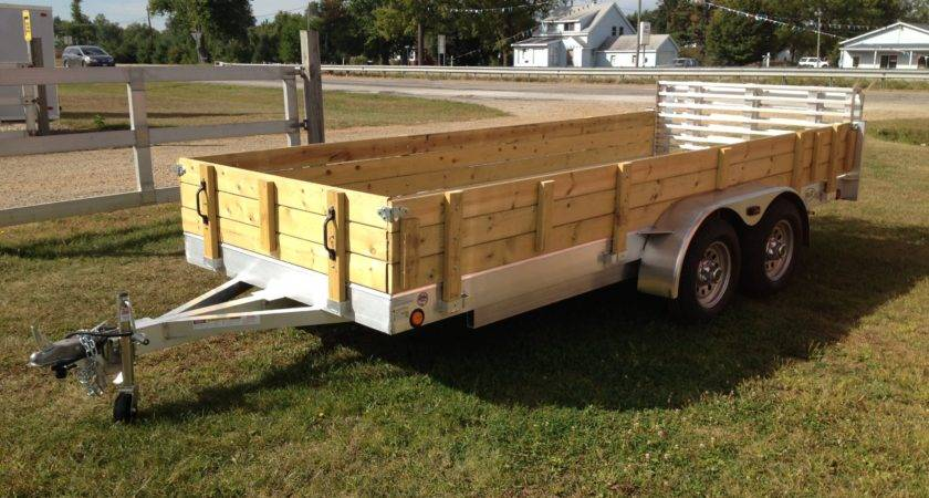 Aluminum Utility Trailer Series Wood Floor