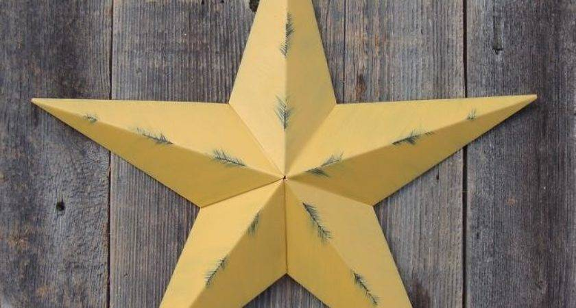 American Metal Tin Barn Star Painted Color Choices