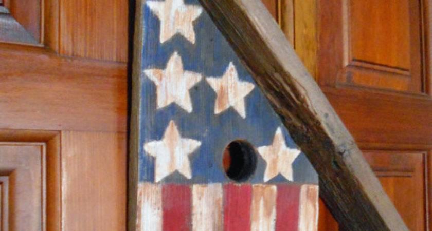 Americana Decor Rustic Birdhouse Wall Hanging