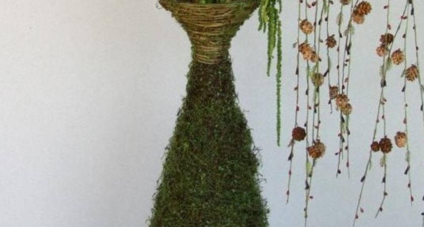 Angel Vine Floor Vase Diy Moss Covered