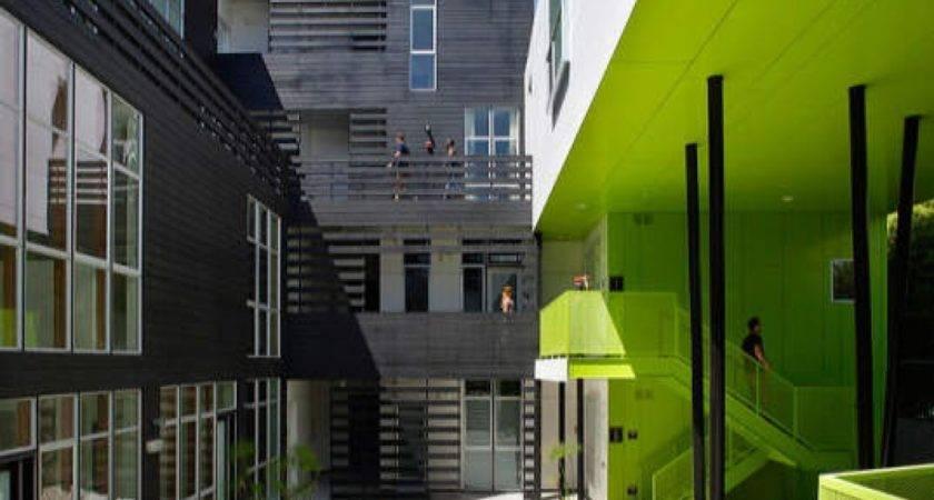 Apartment Complex Design Green Modern Building