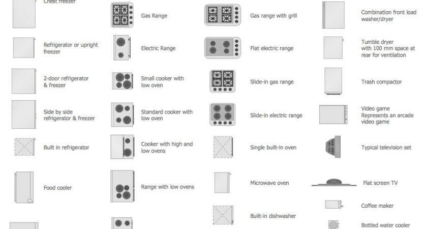 Appliances Symbols Building Plan