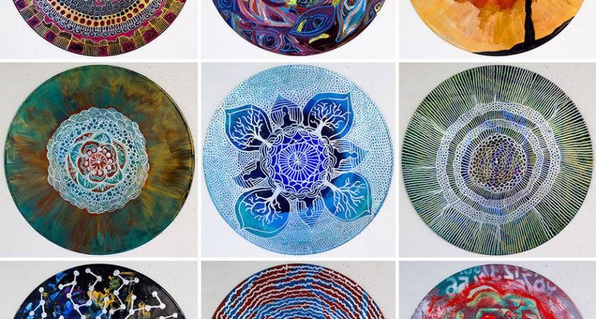 Art Therapist Paints Mandalas Vinyl Records Bored Panda
