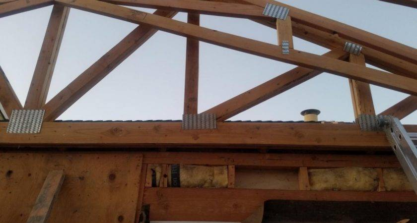 Attaching Girder Truss Existing Roof Building
