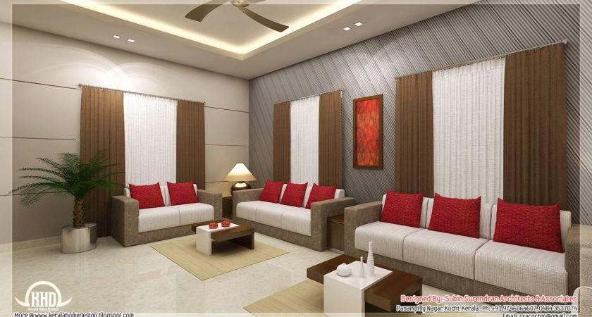 Awesome Interior Renderings Kerala Home