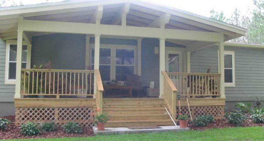 Awesome Mobile Home Porch Plans Front