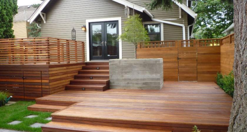 Backyard Blues Traditional Deck Portland