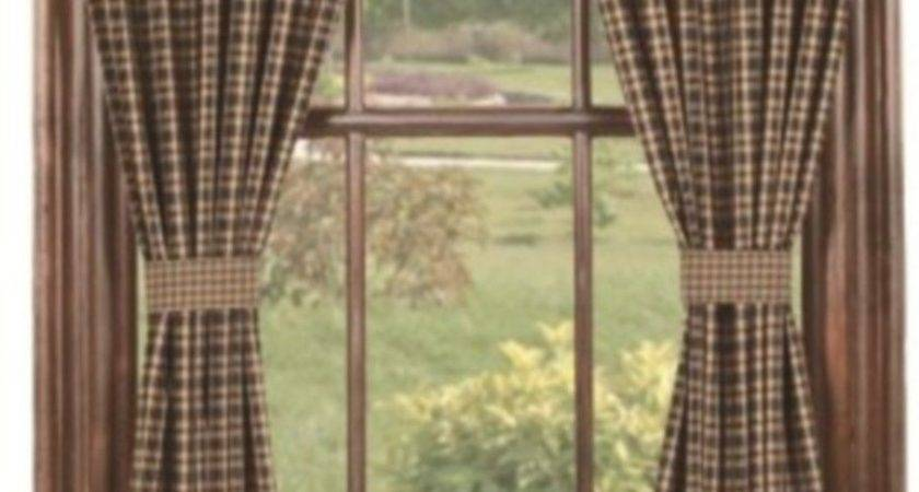Barn Star Layered Window Panels Primitive Country