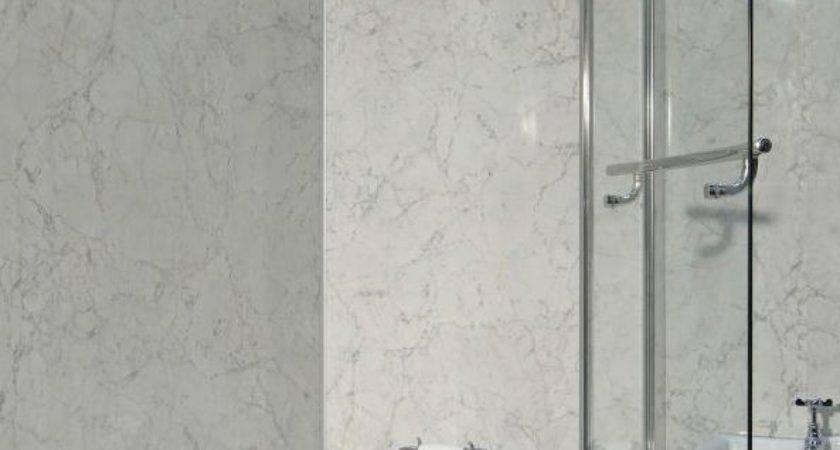 Bathroom Grade Laminate Flooring Grey Marble Multipanel