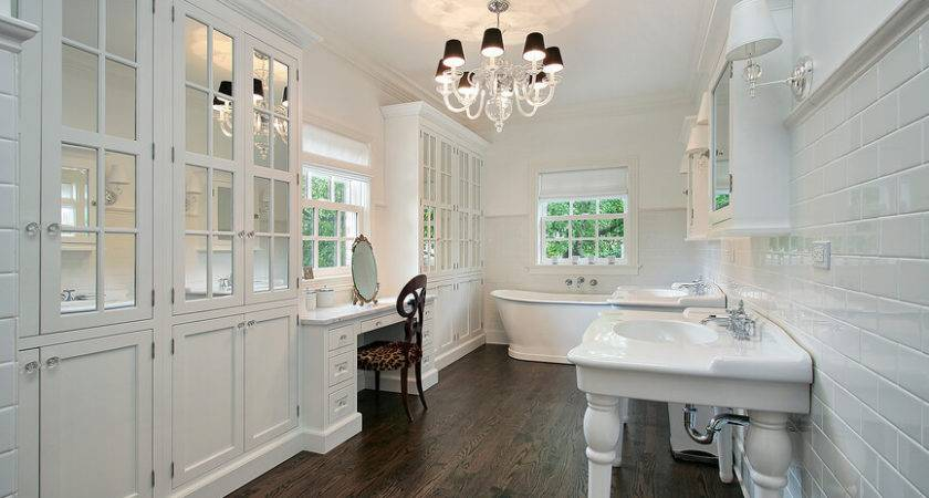 Bathrooms Dark Floors