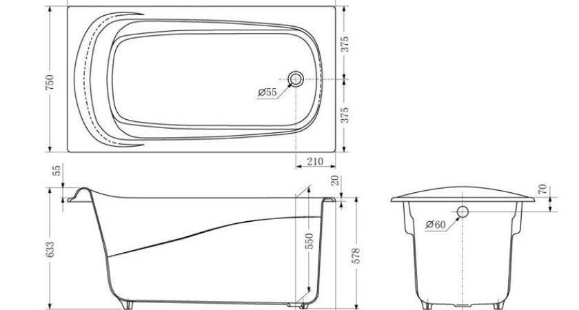 Bathtub Length Width Depth Build Standard