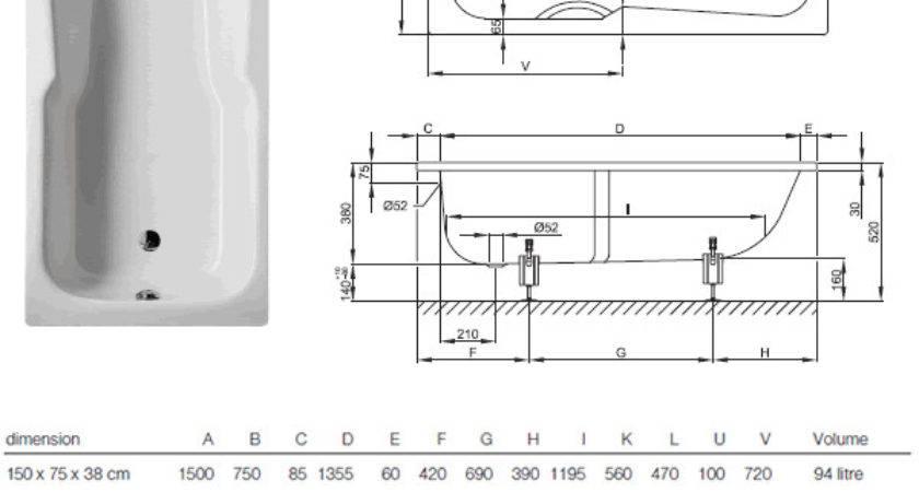 Bathtub Measurement Standards Best Ideas