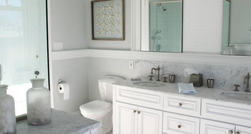 Beachy Bathroom Cottage Molly Frey Design