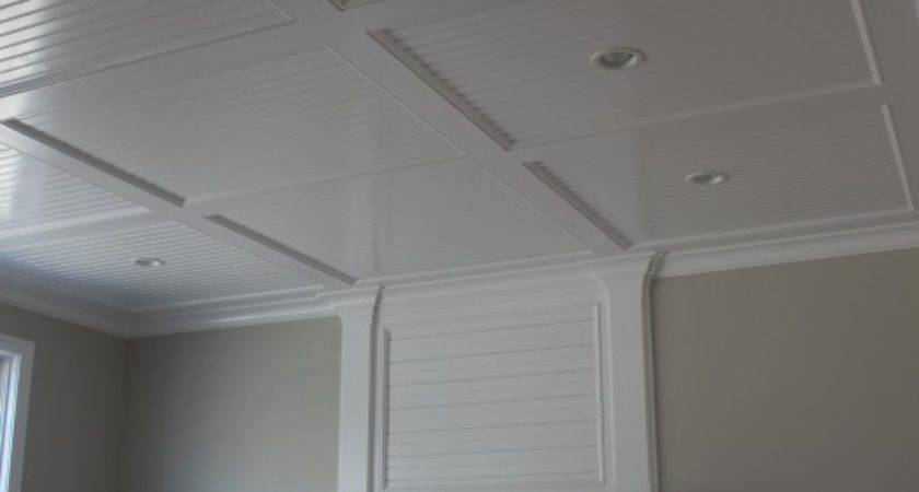 Beadboard Recess Panel Ceiling Custom Home Finish