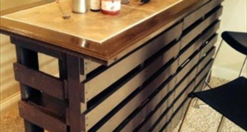 Beautiful Diy Pallet Indoor Bar Wine Rack Pallets