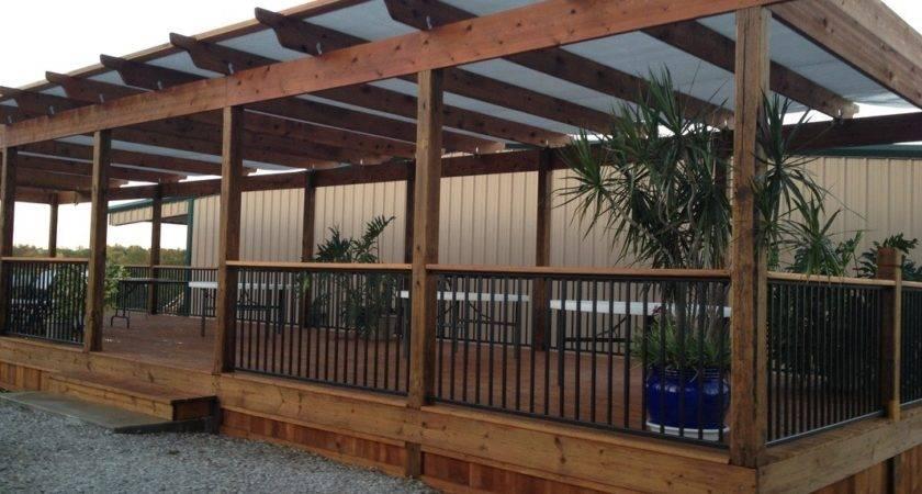 Beauty Covered Deck Plans Jbeedesigns Outdoor