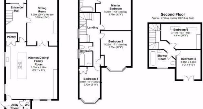 Bed House Floor Plan Rear Extension Google Search