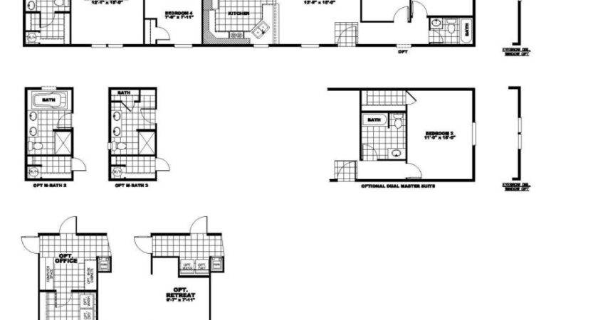 Bedroom Bath Mobile Home Floor Plans Ehouse Plan
