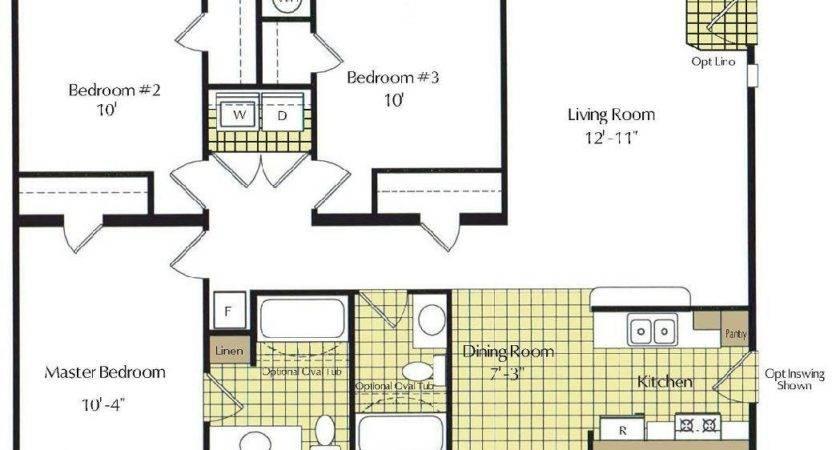 Bedroom Bath Mobile Homes Floor Plans Guardian