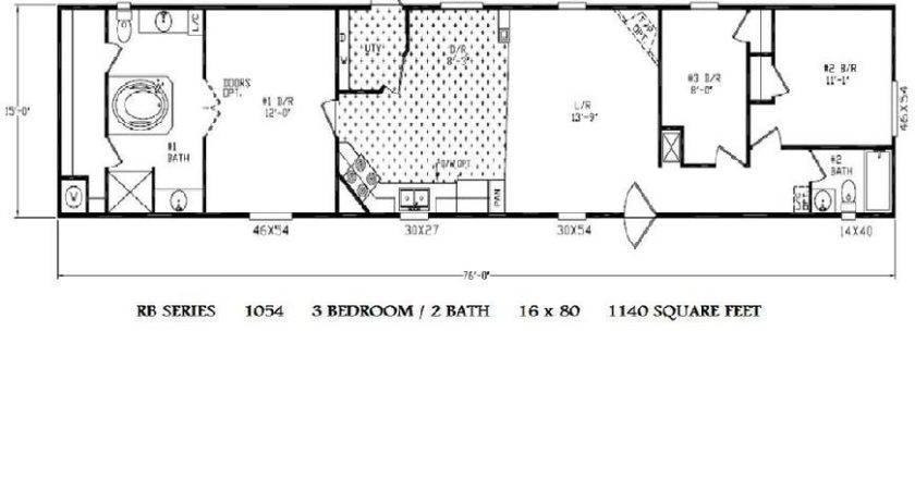 Bedroom Mobile Home Floor Plans House Design
