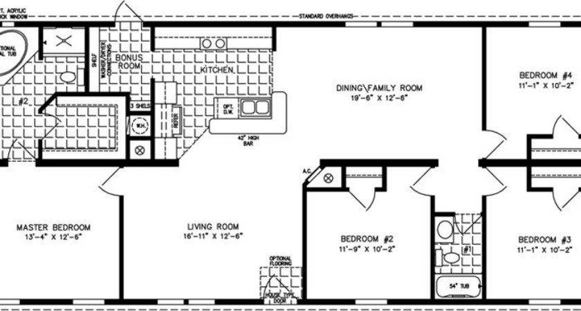 Bedroom Mobile Home Floor Plans Lovely Four
