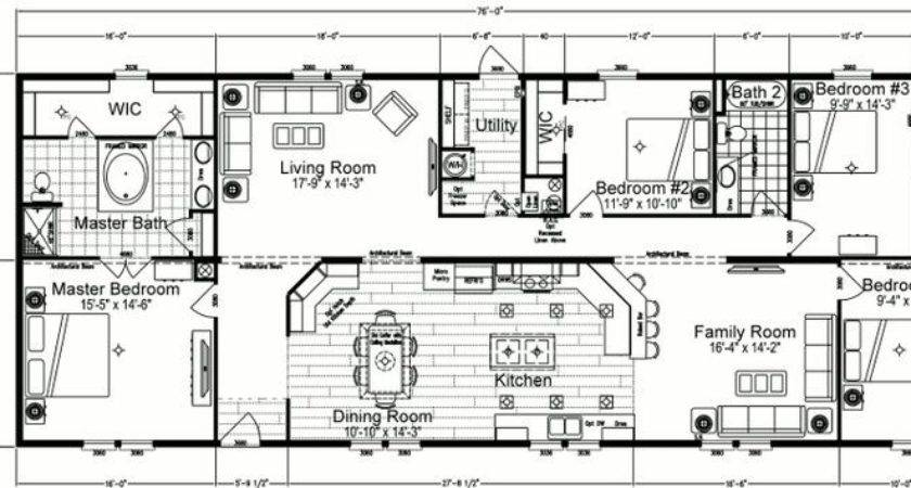 Bedroom Mobile Home Plans Double Wide