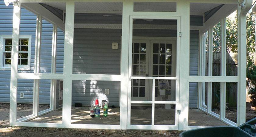 Before After Screen Porch Photos Exovations