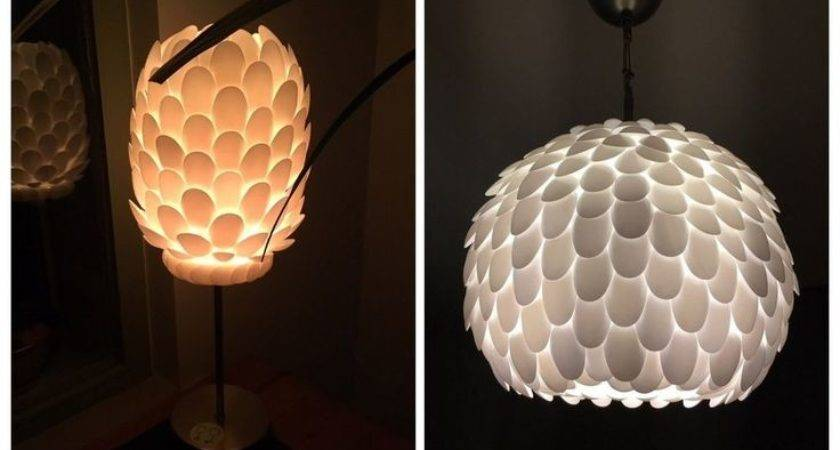 Best Plastic Spoon Lamp Ideas Pinterest