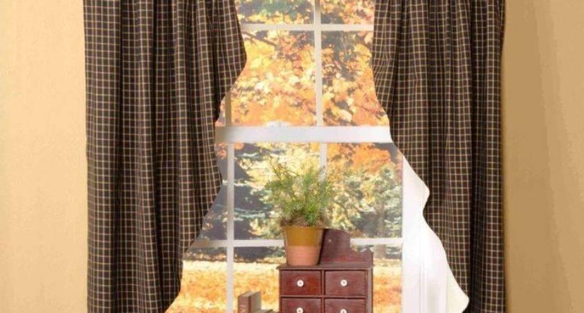 Best Primitive Curtains Ideas Pinterest Country