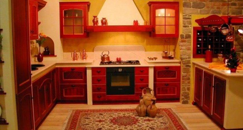 Best Red Country Kitchen Pinterest