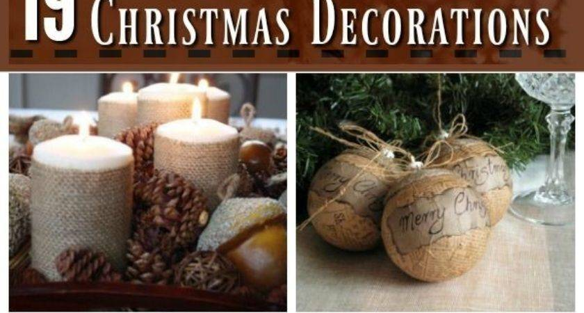 Best Rustic Christmas Decorations Ideas Pinterest