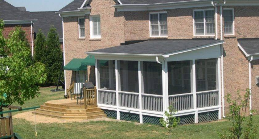 Best Shed Roof Screened Porch Plans Modern