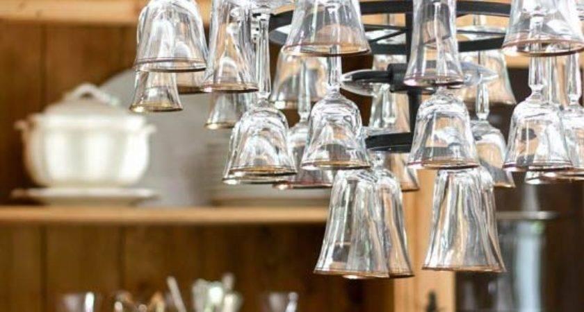 Best Wine Glass Chandelier Ideas Pinterest