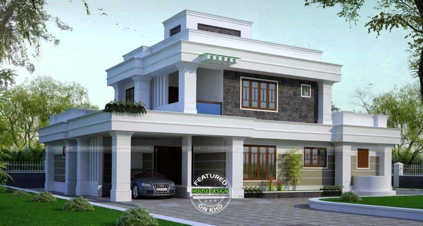 Bhk Flat Roof House Kerala Home Design Floor Plans