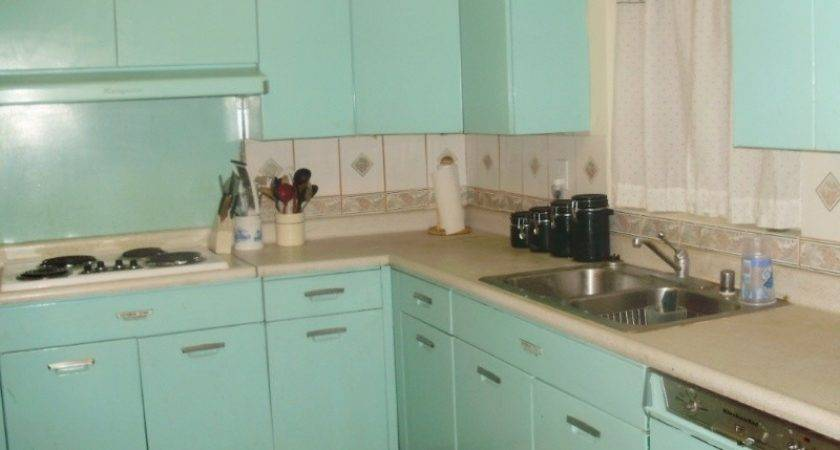 Bloombety Kitchen Cabinets Blue Vintage Style