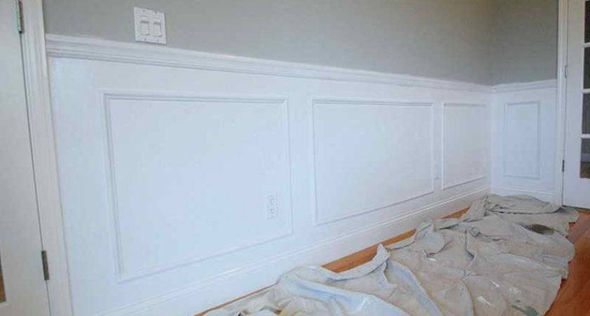 Bloombety Paint Wainscoting Panels Grey Wall