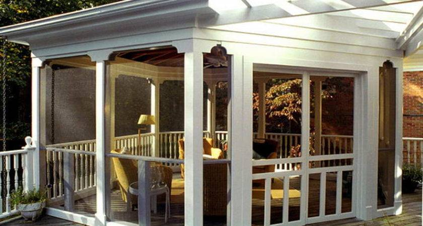 Bloombety Screened Porch Ideas White Themes