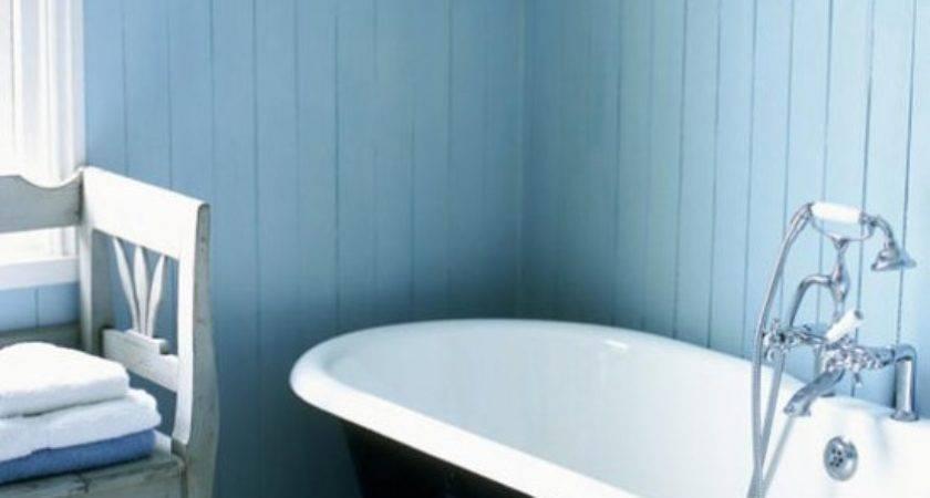 Blue White Bathroom Traditional Decorating