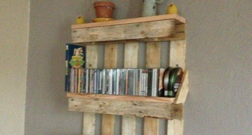 Bookshelf Out Pallets Shelves Made Abc