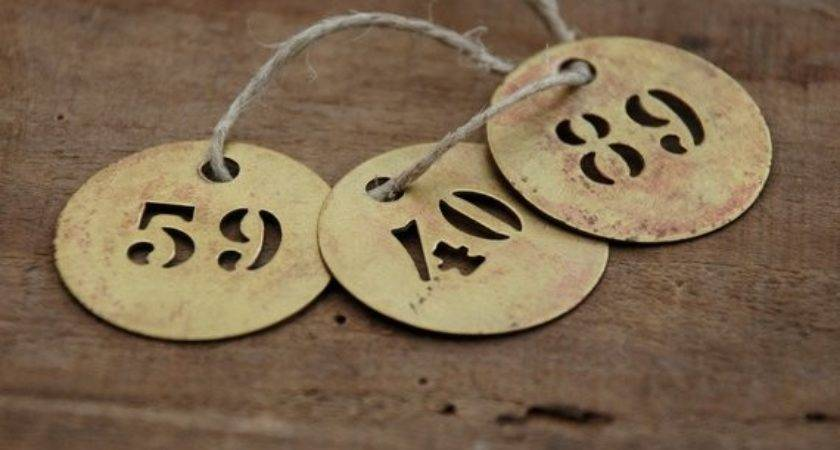 Brass Number French Round Stencil Frenchtouchboutique