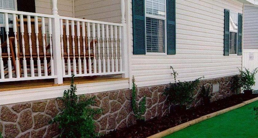 Brick Vector Underpinning Mobile Home