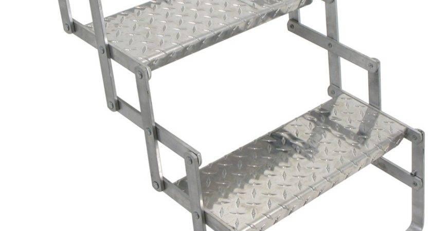 Brophy Camper Scissor Steps Aluminum Diamond