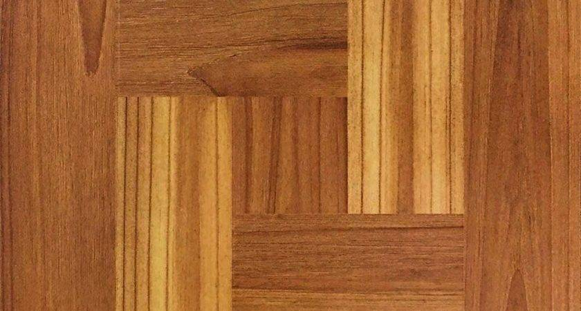Brown Wood Parquet Peel Stick Vinyl Tile Flooring