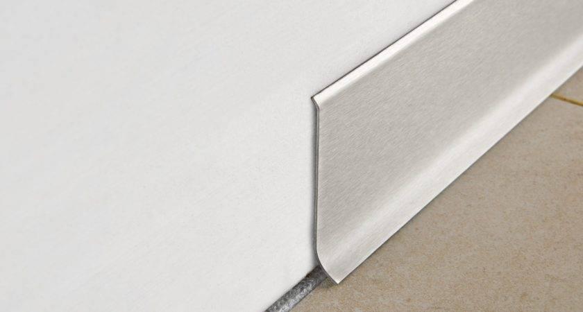 Brushed Steel Skirting Board Progress Profiles