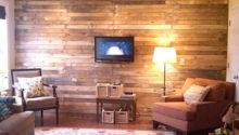 Bucket Diy Wood Plank Wall Made Out Scrap Pallets